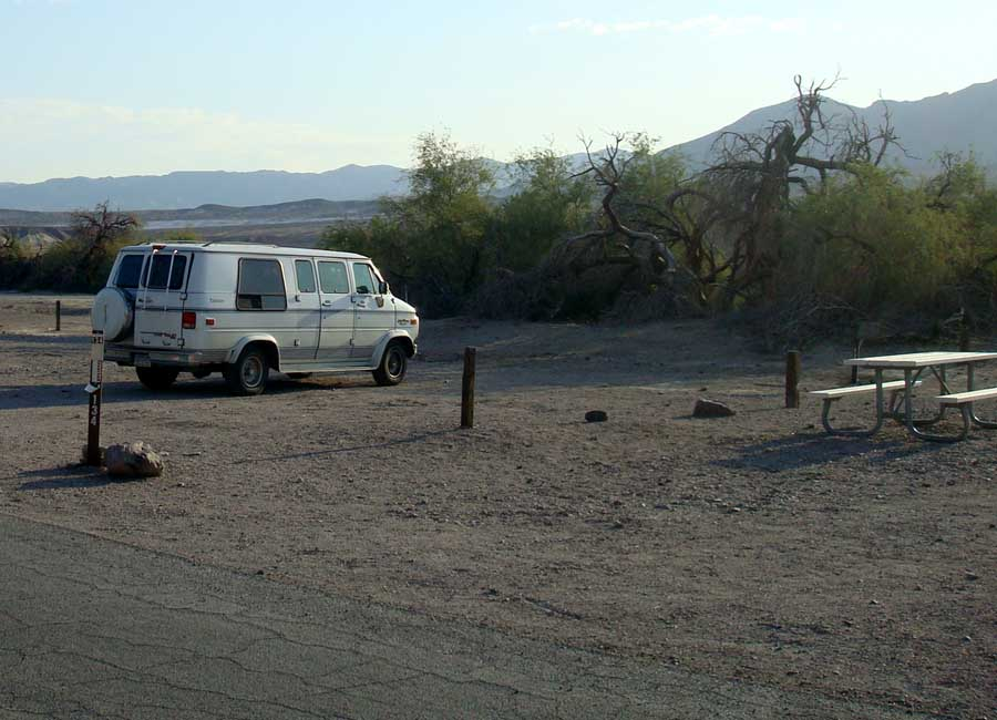 Camping with coyotes in Death Valley