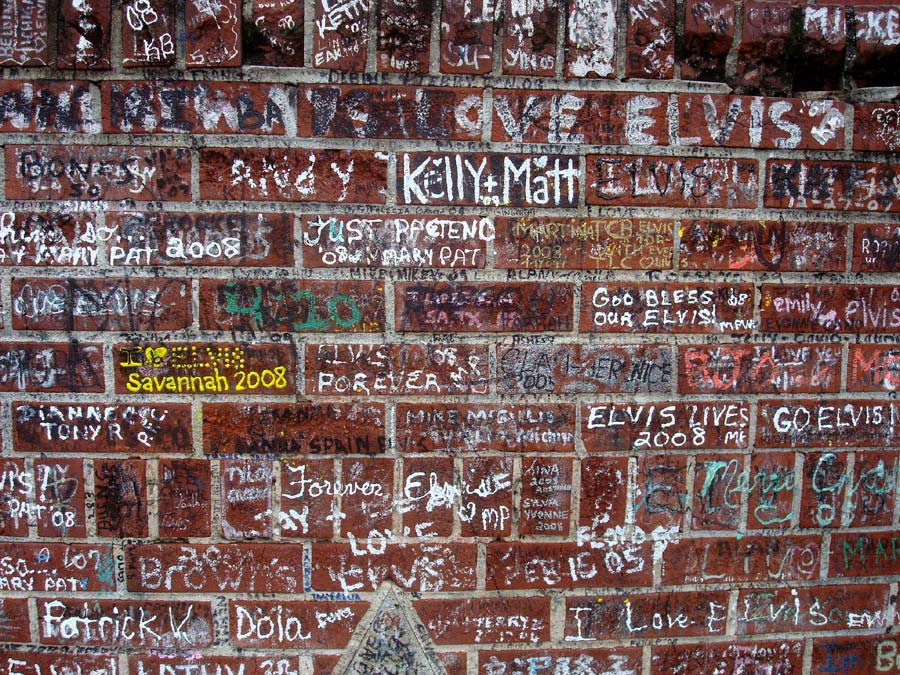 Graceland brick wall