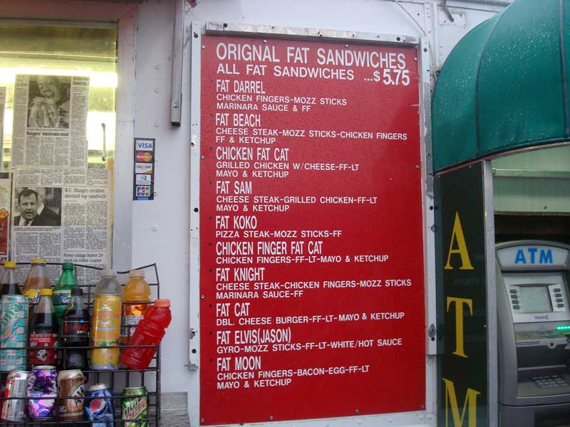 Rutgers grease trucks menu