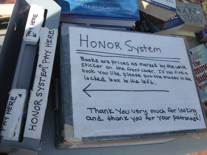book honor system