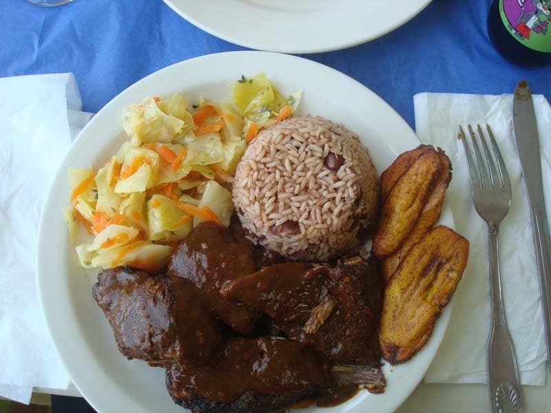 Jamaican food frisbee golf and ancient boulders in new for Authentic jamaican cuisine