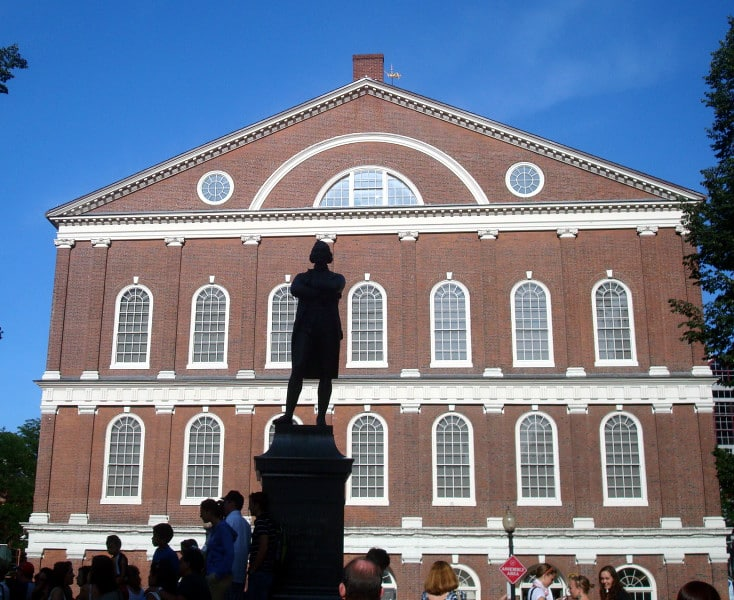 sam adams statue boston