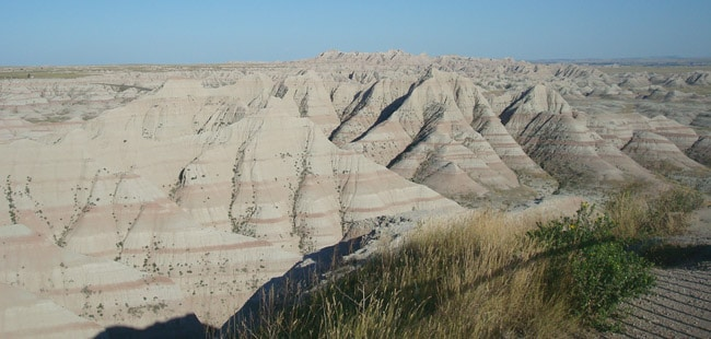 badlands rocks