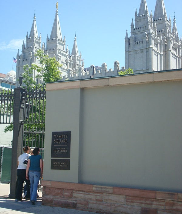 mormon headquarters entrance