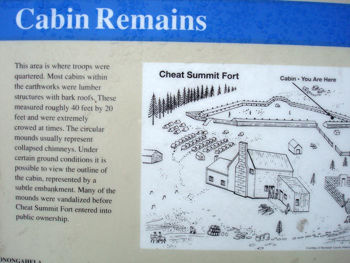 cheat summit fort cabin remains