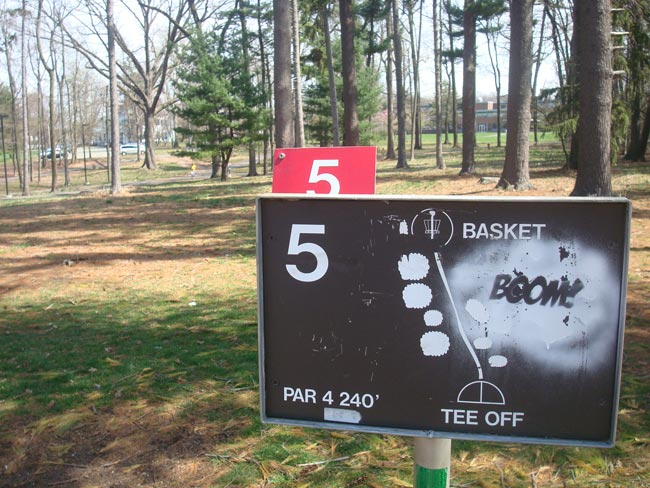rutgers disc golf hole 5