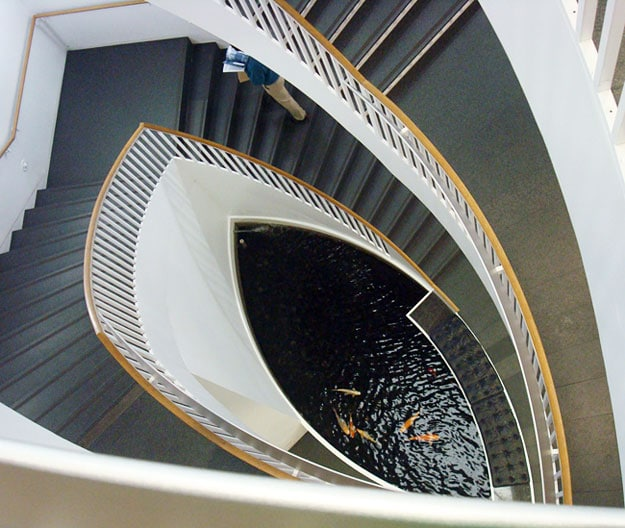 museum contemporary art stairs