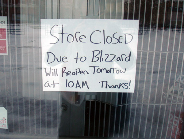 store closed blizzard