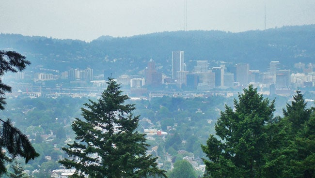 portland volcano skyline views