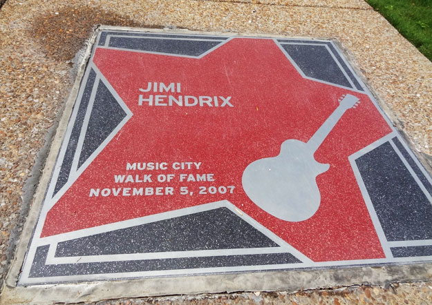 jimi hendrix music city walk of fame