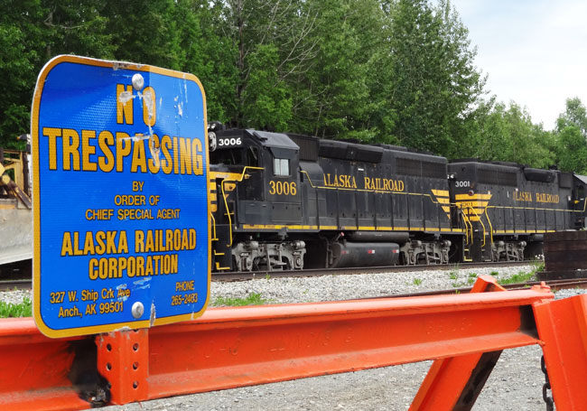 alaska railroad trespassing