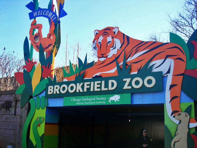 brookfield zoo sign