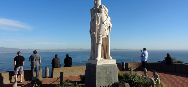 Limestone statues, whales, and abandoned lighthouses at the Cabrillo Monument in San Diego