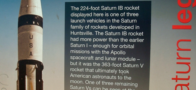 Quirky Attraction: Saturn 1B Rocket at Alabama Rest Stop