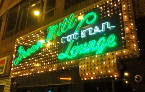 green mill al capone jazz marquee