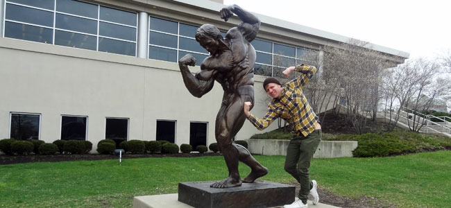 Quirky Attraction: Arnold Schwarzenegger Statue