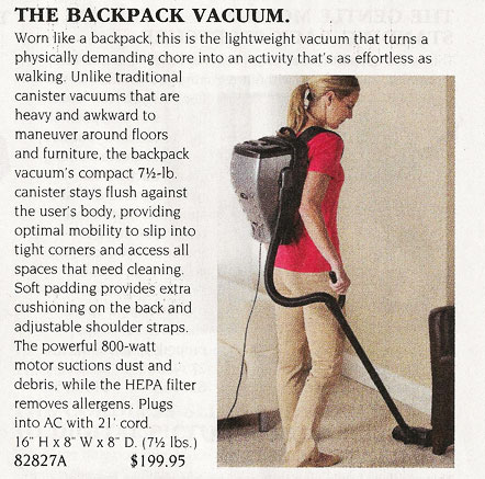 skymall backpack vacuum