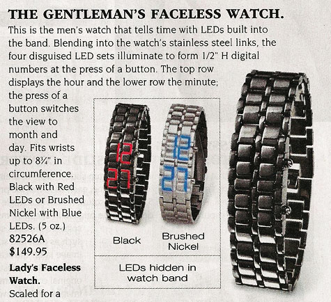 skymall faceless watch
