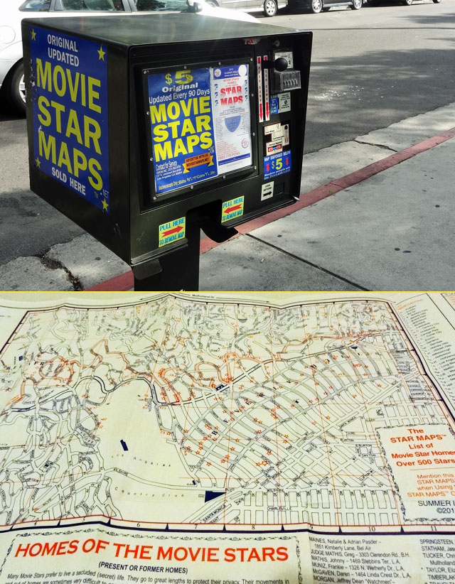 hollywood star map