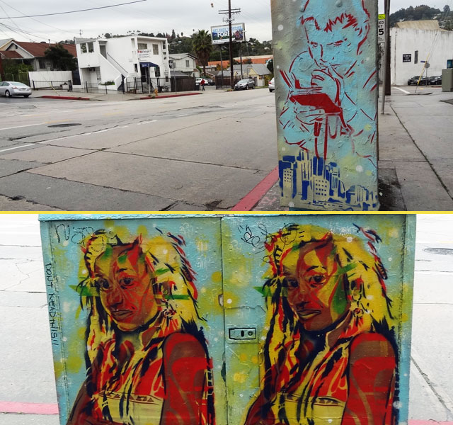 silver lake faces art