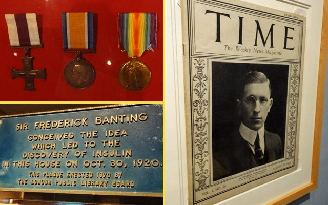 frederick banting artifacts