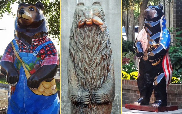 Bear statues, George Washington and Pepsi tourism in New Bern, North Carolina