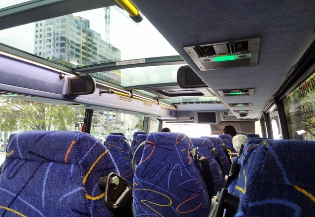 mega bus faq - interior luggage nyc