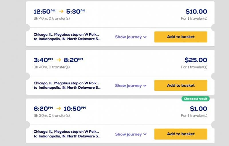 megabus one dollar cheap bus tickets