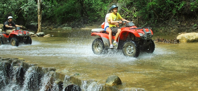 Riding an ATV in the mountains of Puerto Vallarta