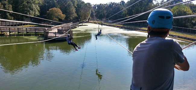 Just a typical afternoon ziplining over alligators in Louisiana