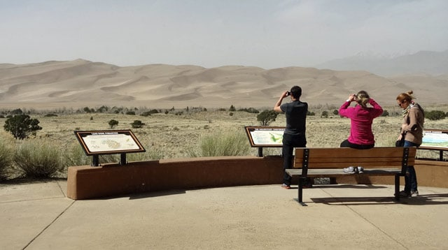 great sand dunes tourists