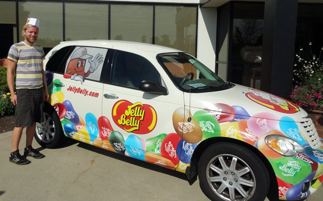 Taste testing bizarre flavors at the Jelly Belly warehouse