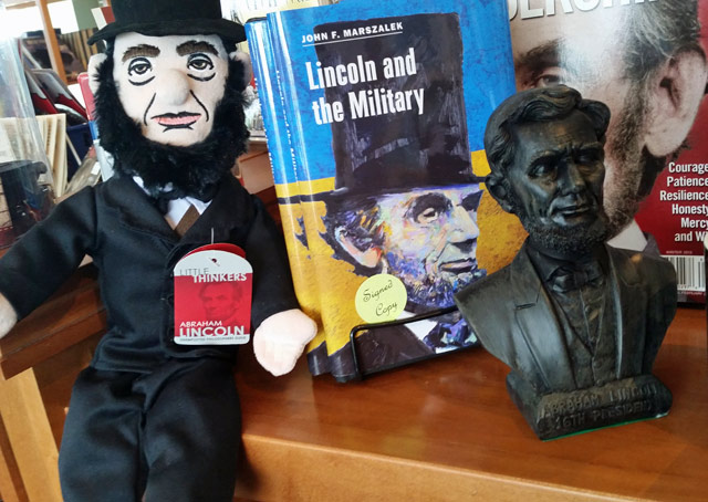 stuffed abe lincoln plush doll