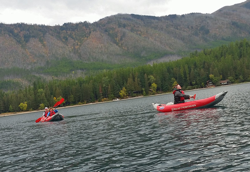 kayaking lake mcdonald