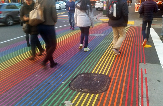rainbow crosswalk san francisco