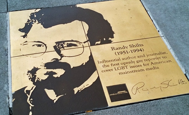 randy shilts lgbt gay walk of fame