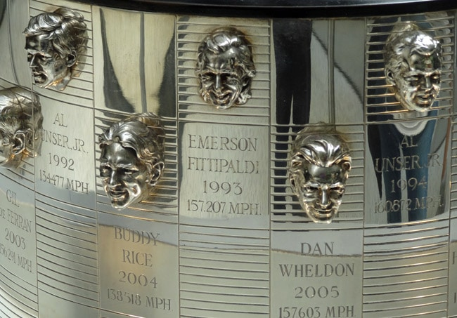 indy 500 trophy heads