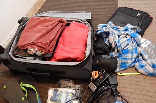 The weird trick that saves me suitcase space