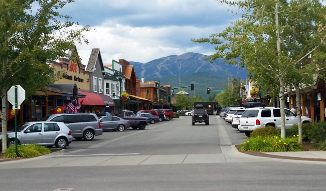 whitefish montana town near glacier national park
