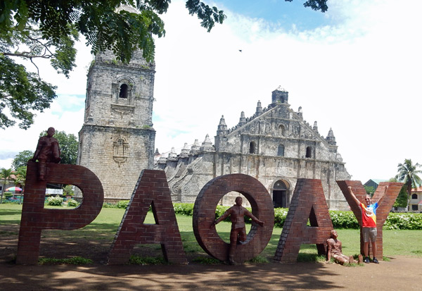 paoay sign church convent ruins