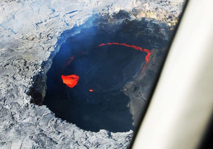 Sights from a Hawaiian helicopter ride over active lava flows