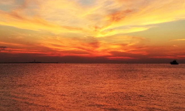 sunset dry tortugas