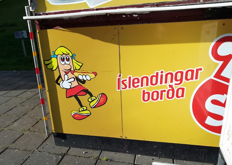 quirky iceland hot dog stand akureyri