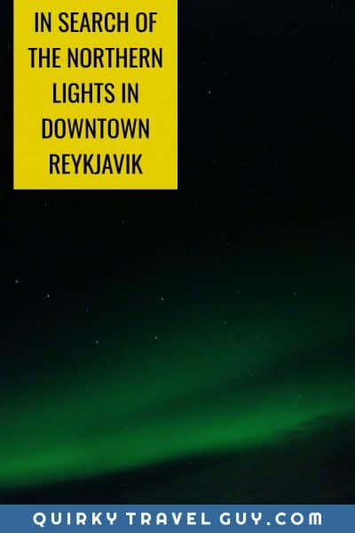 northern lights downtown reykjavik