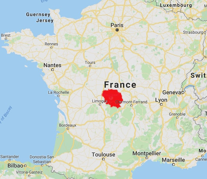 creuse france map