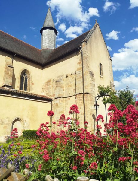 felletin church flowers limousin france