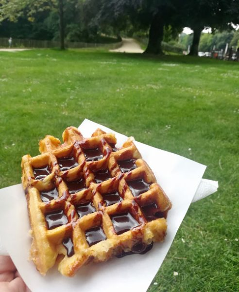 street food chocolate waffles brussels belgium