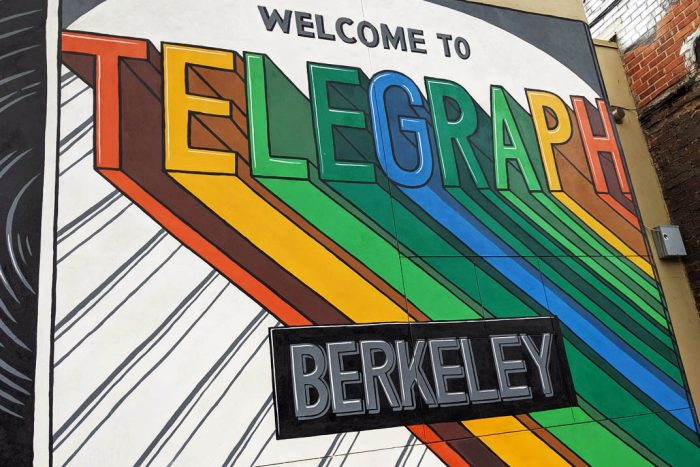 welcome to telegraph berkeley street art