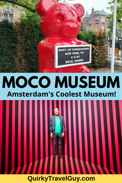 The Moco Museum is Amsterdam's coolest museum, featuring modern art by Banksy, Warhol, and more. #banksy #mocomuseum #amsterdam #modernart