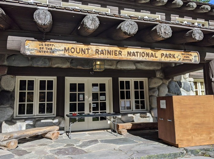 rainier welcome sign
